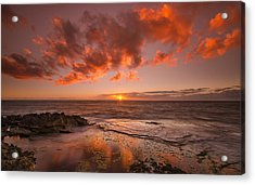 Golden Hawaii Sunset  Acrylic Print