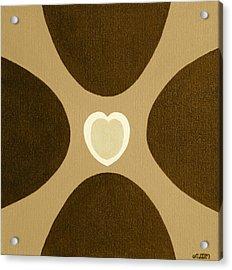 Golden Heart 3 Acrylic Print