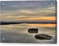 Golden Horizon Acrylic Print by Stelios Kleanthous