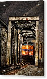 Acrylic Print featuring the photograph Golden Hour Crossing by Ken Smith