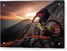 Golden Hour High Alpine Ride Acrylic Print