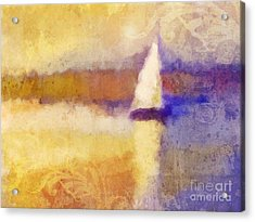 Golden Hour Sailing Acrylic Print by Lutz Baar