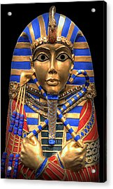 Golden Inner Sarcophagus Of A Pharaoh Acrylic Print by Daniel Hagerman