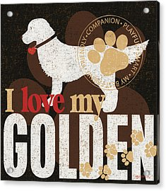 Golden Acrylic Print by Kathy Middlebrook