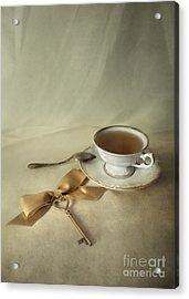 Golden Key Acrylic Print by Jaroslaw Blaminsky