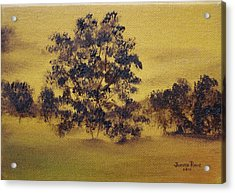Acrylic Print featuring the painting Golden Landscape by Judith Rhue