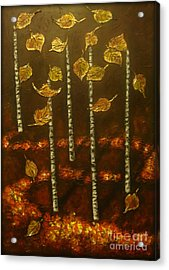 Golden Leaves 2 Acrylic Print