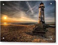 Golden Light Acrylic Print by Adrian Evans