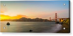 Golden Light Acrylic Print by Peter Irwindale