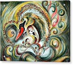 Golden Love Acrylic Print by Harsh Malik