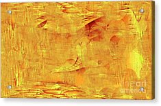 Golden Acrylic Print by Max Kutz