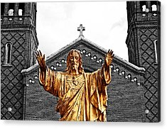 Golden Messiah Acrylic Print by Andy Crawford