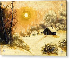 Golden Morning Acrylic Print by Barbara Griffin