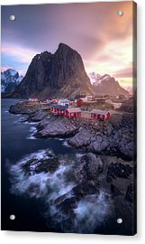 Golden Morning In Hamnoy Acrylic Print by Daniel F.