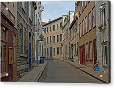 Golden Morning Light Painting Rue Couillard  Acrylic Print by Juergen Roth