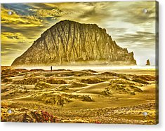 Golden Morro Bay Acrylic Print