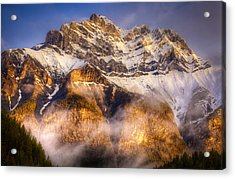 Golden Mountain Acrylic Print by Stuart Deacon