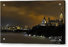 Golden Night... Acrylic Print by Nina Stavlund
