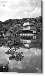 Golden Pagoda In Kyoto Japan Acrylic Print by David Smith