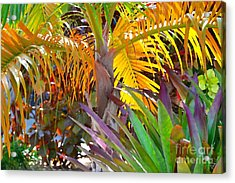 Acrylic Print featuring the photograph Golden Palm 2 by Darla Wood