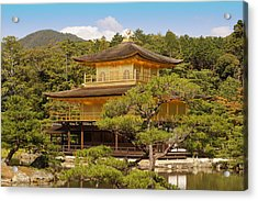Acrylic Print featuring the photograph Golden Pavilion by Cassandra Buckley