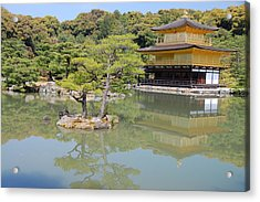 Golden Pavilion Acrylic Print by Jonah  Anderson
