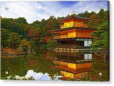 Golden Pavilion Acrylic Print