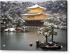 Golden Pavillion Acrylic Print