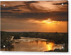 Golden Payette River Acrylic Print by Robert Bales