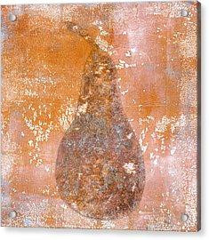 Golden Pear Pink Monoprint Acrylic Print