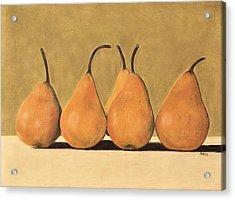 Golden Pears  Acrylic Print