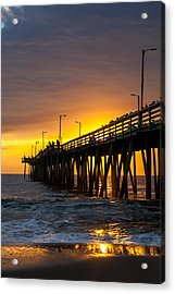Acrylic Print featuring the photograph Golden Pier by Dawn Romine