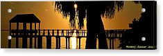 Golden Pier Panorama Acrylic Print by Richard Zentner