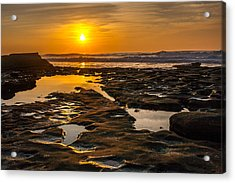 Golden Pools Acrylic Print by Peter Tellone