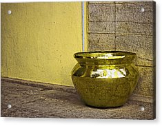 Golden Pot Acrylic Print by Prakash Ghai