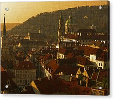 Golden Prague Acrylic Print