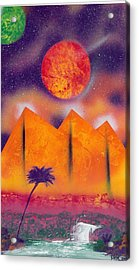 Golden Pyramid Sunrise Acrylic Print by Marc Chambers