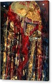 Golden Rain Acrylic Print by Daniel Bonnell