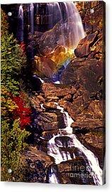 Golden Rainbow Acrylic Print