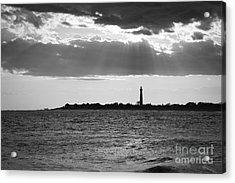Golden Rays At Cape May Bw Acrylic Print