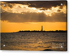 Golden Rays At Cape May Acrylic Print