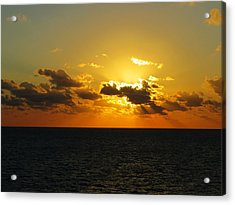 Acrylic Print featuring the photograph Golden Rays Sunset by Jennifer Wheatley Wolf