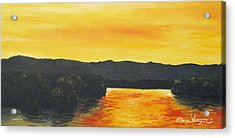 Golden Reflections Acrylic Print by Monica Veraguth