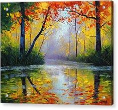 Golden River Acrylic Print