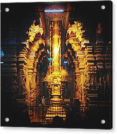 Golden Rod In Meenakshi Temple Acrylic Print