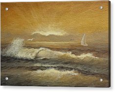 Golden Sail Acrylic Print