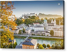 Golden Salzburg Acrylic Print by JR Photography