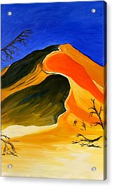Golden Sand Dune Center Panel Acrylic Print