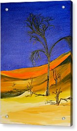 Golden Sand Dune Left Panel Acrylic Print