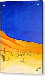 Golden Sand Dune Right Panel Acrylic Print